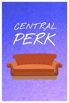 Friends - Central Perk Art Print by Allison Hoover - X-Small Friends Tv Show, Tv: Friends, Friends 1994, Friends Moments, Friends Forever, Friends Trivia, Friends Series, Matthew Perry, Audrey Horn
