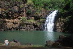 Swimming in Waimea Falls pool by BettyFrance (Photo) | Weather ...
