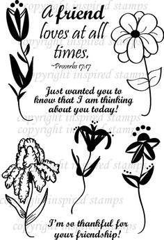 Inspired Stamps... 4x6, 100% photopolymer stampset..Friendship's Flowers...NEW
