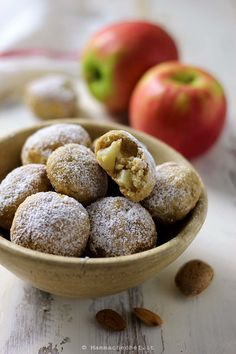 Merida, Biscotti Cookies, Baked Apples, Falafel, Apple Recipes, Bite Size, Latte, Biscuits, Sweets