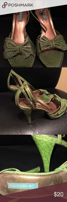 High heels by Michelle K Purchased in San Francisco and only worn once. Women's Size 7.5 Good condition, good quality leather Michelle K Shoes Heels