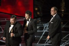 """Craig Mann, Ben Wilkins, and Thomas Curley won the Sound mixing Award for """"Whiplash"""""""