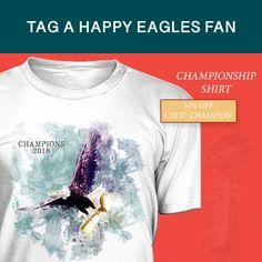 PHILADELPHIA EAGLES SUPER BOWL CHAMPIONS 2018 SHIRT… #FLYEAGLESFLY #EAGLES #PHILADELPHIAEAGLES #SUPERBOWL