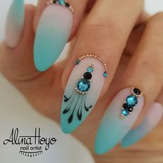 Beautiful nails by @alinahoyonailartist Ugly Duckling Nails page is dedicated to promoting quality, inspirational nails created by International Nail Artists