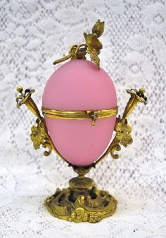 Antiques, Opaline Glass Egg