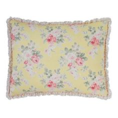 Yellow Quilts, Yellow Bedding, Bedroom Yellow, Shabby Chic Material, Pillow Shams, Pillows, King Quilt Sets, Laura Ashley Home, Chic Bedding
