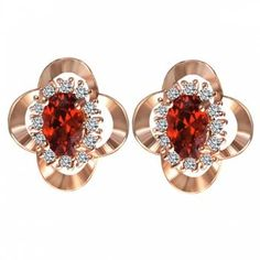 Free shipping 2018 Faux Ruby Rhinestone Clover Earrings ROSE GOLD under $3.96 in Earrings online store. Best Pearl And Rhinestone Earrings and Silver Round Earrings for sale at Dresslily.com.