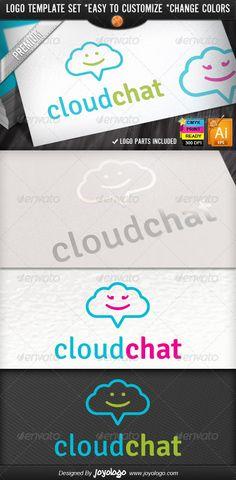 Social Media Application Chat Cloud Internet - Logo Design Template Vector #logotype Download it here: http://graphicriver.net/item/social-media-application-chat-cloud-internet-logo/2481155?s_rank=900?ref=nesto