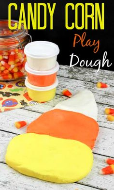 If your kids love playdoh, this homemade Candy Corn Play Dough is sure to please - and keep the kiddos busy for hours.  It's easy to make and perfect for the fall!