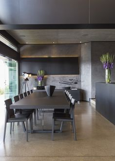 dining area / Kloof Road House | Nico van der Meulen Architects | Archinect