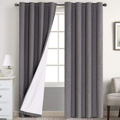 5 Best Blackout Curtains Reviews - CountryCurtains Window Treatments Living Room, Living Room Windows, Living Room Bedroom, Curtains Living, Bedroom Curtains, 108 Inch Curtains, White Curtains, Panel Curtains, Insulated Curtains