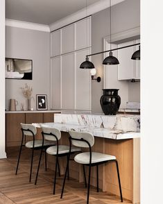 CGI 3 Ds Max projects | Фотографии, видео, логотипы, иллюстрации и брендинг в Behance Concept Architecture, Interior Architecture, Interior Design, Kitchen Dinning, Kitchen Cupboards, Dining, Art Furniture, Furniture Design, Restaurant Lounge