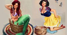 If Disney Princesses Were Flirty Pin-Up Models