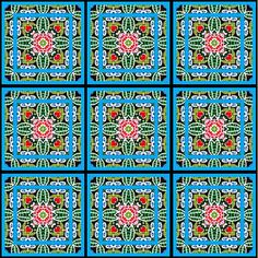 ArtbyJean - How did you do that?: Make your own cards - Tea Bag Tiles in Blocks of nine tiles.