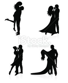 Dancing couples. Royalty Free Stock Vector Art Illustration
