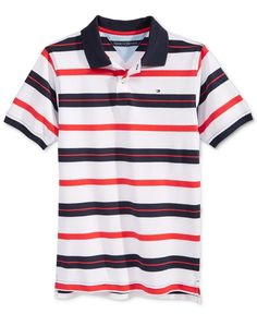 Tommy Hilfiger Boys' Kurt Stripe Polo
