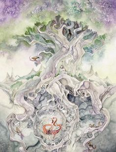 Yggdrasil, the Norse Tree of Life...  Visit this website for more beautiful depictions of the Tree!