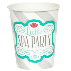 Little Spa Party 9 oz. Paper Cups Includes: (8) paper 9 oz. cups to match your party theme. Cups are versatile enough to serve warm or cold beverages. Lids sold separately. Weight (lbs) 0.4 Length (inches) 3.13 Width (inches) 3.13 Height(inches) 6.38 Birthday Party Supplies Multi-colored One Size Birthday Unisex All Ages