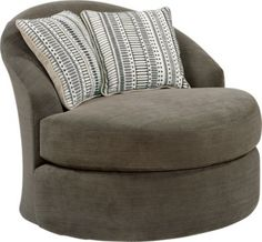 Shop for a Meridian Springs Charcoal Swivel Chair at Rooms To Go. Find Chairs that will look great in your home and complement the rest of your furniture. #iSofa #roomstogo