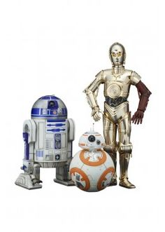ArtFX Statues are fun-to-assemble pre-painted snap-fit kits that can be put together easily in seconds without glue or modeling skill. Kotobukiya Star Wars: The Force Awakens & With ArtFX Statues - NEW. Robot Star Wars, Star Wars Droiden, Star Wars Stormtrooper, C3po And R2d2, Star Wars Toys, Star Wars Luke Skywalker, Star Wars Anakin, Luke Cage, New 52