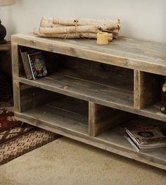 Reclaimed Wood Long Bookshelf   Home Furniture   J W Atlas Wood Company