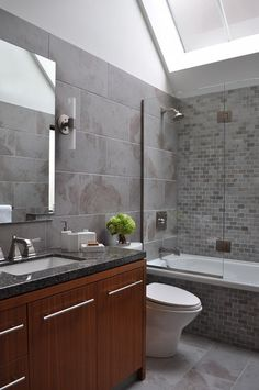 Tub Shower Combo Design, Pictures, Remodel, Decor and Ideas - page 3  2nd Bathroom design Idea
