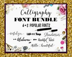 Calligraphy Fonts Script Swirly Fonts Bundle by ThePrintablesWorld