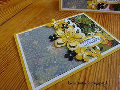 """Geburtstagskarte mit dem DSP/ dem Designerpergament im Block """"Botanischer Garten"""" und den Framelits """"Pflanzen Potpourri"""" ~ Kreiere mit Liebe - Stempeln, Stanzen, Prägen und Co."""