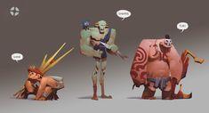 """Team """"Caveman"""" Fortress by Kejun Wang on ArtStation."""
