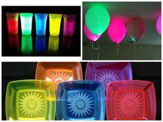 enfeites neon festa 15 anos