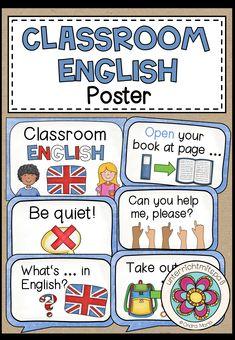 Classroom English | Englisch lernen in Grunschule und ab 5.Klasse Poster & Unterrichtsmaterial
