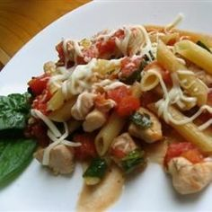 A chicken and pasta supper with Italian flavors is so easy, because you cook the pasta right in the skillet. It's perfect for weeknights.