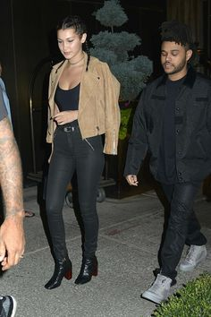 Hadid News || Your best and ultimate source for all things about the Hadid sisters  - September 8: Bella Hadid and Abel Tesfaye out in...