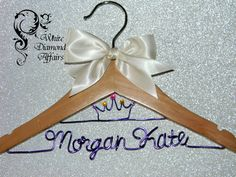 Child's Personalized Princess Crown hanger by WhiteDiamondAffairs, $25.95