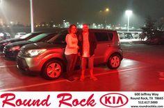 https://flic.kr/p/Ec6aZZ | Happy Anniversary to Rene on your #Kia #Soul from Greg Galindo at Round Rock Kia! | deliverymaxx.com/DealerReviews.aspx?DealerCode=K449
