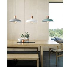 Croft 1 Light Pendant in Brushed Copper/Ash | Modern Pendants | Pendant Lights | Lighting