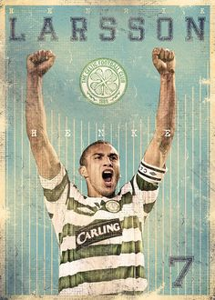 The Gods Of Football (Part II) by Marija Marković on Behance — Henrik Larsson, Sweden God Of Football, Football Art, World Football, Legends Football, Retro Football, Vintage Football, Celtic Fc, Celtic Team, Association Football