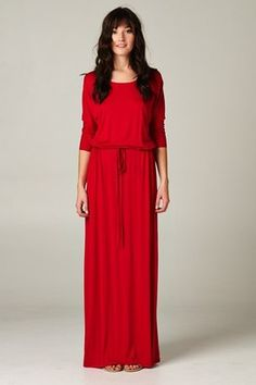 Love this Riley Boyfriend Maxi from Catchbliss.com! A perfect dress for all our holiday gatherings! #fashion