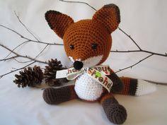 Crochet Stuffed Fox, Woodland Fox, Toy Fox, Amigurumi Fox by CROriginals. $38.00, via Etsy.