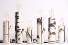 Touch-activated lamps are not just for your grandma anymore! Brooklyn-based Autumn Workshop's Birch Log Touch Lamps are beautiful, innovative and modern. Made from repurposed raw birch log pieces of varying sizes, the lamps bring an outdoorsy feel into any room.