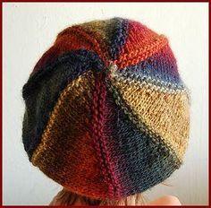 Boina  colorida em tricô  passo a  passo