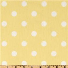 Premier Prints Twill Polka Dots Lucy Yellow/White - romans or rocking chair pillow in P's room?