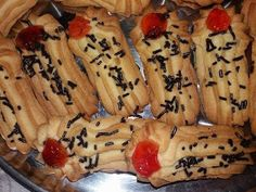ΜΑΓΕΙΡΙΚΗ ΚΑΙ ΣΥΝΤΑΓΕΣ: Μπισκότα βουτύρου !!! Biscuits, Food And Drink, Banana, Snacks, Cookies, Fruit, Cake, Ethnic Recipes, Sweet
