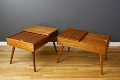 Pair of Vintage Mid-Century End Tables by John Keal for Brown Saltman