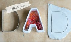 Father's Day Clay Letters Containers Craft