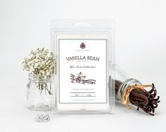Vanilla Bean Wax Tarts... This classic favorite combines the sweet smoothness of vanilla fragrance with creamy tonka bean accents and soft powdery notes from the heliotrope flower.