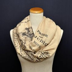 Pride and Prejudice Shawl Scarf Wrap by UniversalZone on Etsy