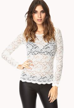 Darling Floral Lace Top