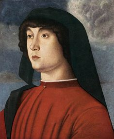 Giovanni Bellini: Giovanni Portrait of a Young Man in Red (1485-1490)