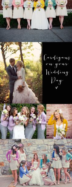 wedding day cardigans {bridal fashion inspiration}- I wouldn't do the cardigans, but they are super cute and would be different- I'm thinking about you, @Claire Dalgliesh (Fellow Fellow) Dalgliesh (Fellow Fellow) Peters
